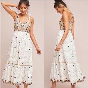 Anthropologie Payal Pratap Norah Embroidered Dress